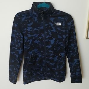 The north face women zip up sweater